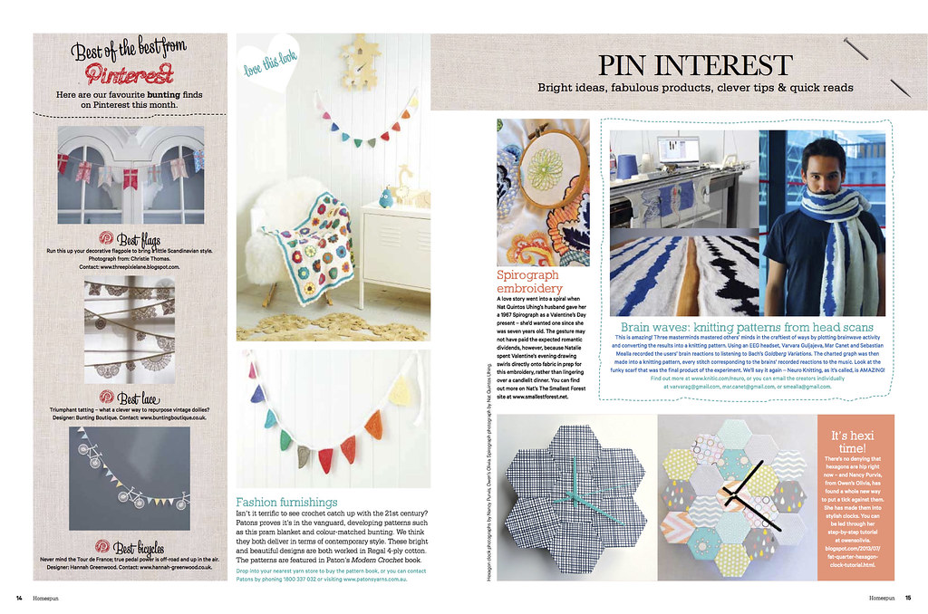 featured in Homespun magazine!