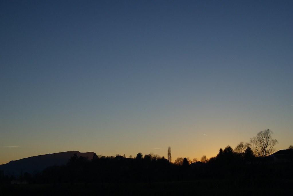 Crépuscule dans le Bugey