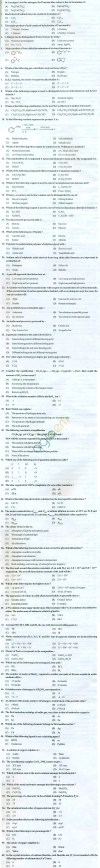PU CET 2013 Question Paper with Answers - Chemistry