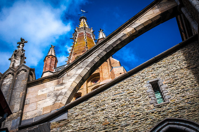 Bruges Church of Our Lady Flying Buttress Brick Tower