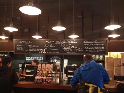 First Starbucks menu