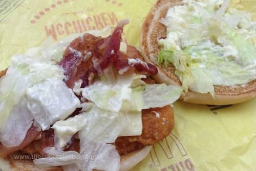 McDonald's Bacon Cheddar McChicken Closeup