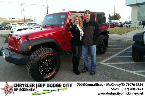 Thank you to Bill & Gayle Brennen on your new 2014 #Jeep #Wrangler Unlimited from Joe Ferguson  and everyone at Dodge City of McKinney! by Dodge City McKinney Texas