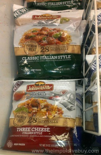 Johnsonville Classic Italian Style and Three Cheese Italian Style Meatballs