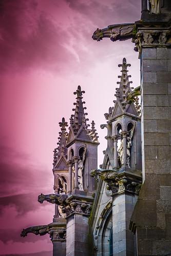 Gargoyles and Grotesques at Notre Dame De La Treille, Lille, France.
