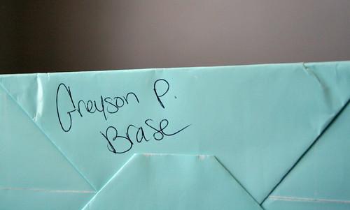 96/365 - Greyson's Memorial Bag