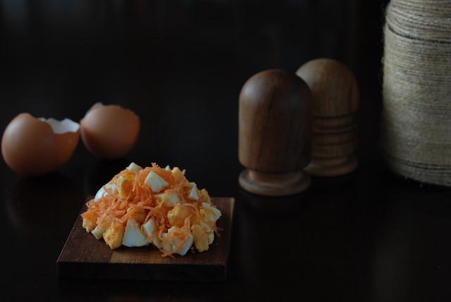 egg carrot salad spread