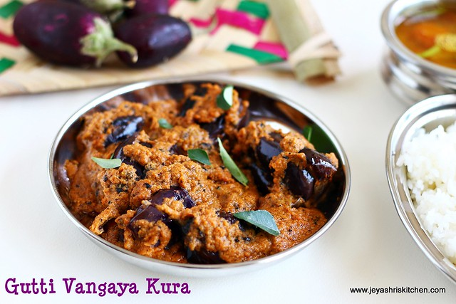 Andhra style stuffed brinjal