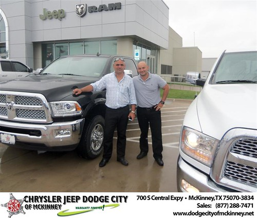 Dodge City of McKinney would like to say Dodge City of McKinney would like to say Congratulations to Adrian Franco on the 2013 Dodge Ram by Dodge City McKinney Texas