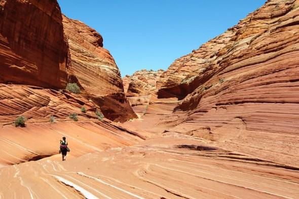 Hiking the Wave - Nikon D300