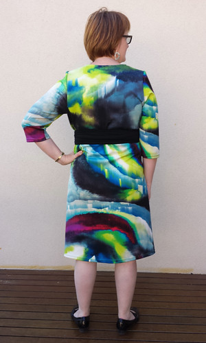 Lekala 5794 in scuba knit from Darn Cheap Fabrics