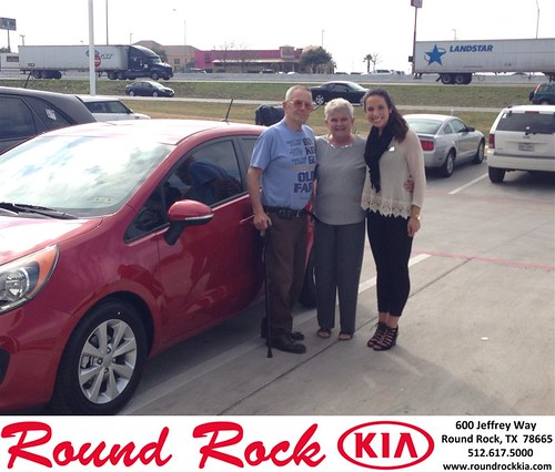 Thank you to Martha And William Suerth on your new 2014 #Kia #Rio from Andi Wilson and everyone at Round Rock Kia! #NewCarSmell by RoundRockKia