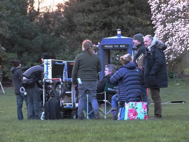 Dr Who filming in Bute Park