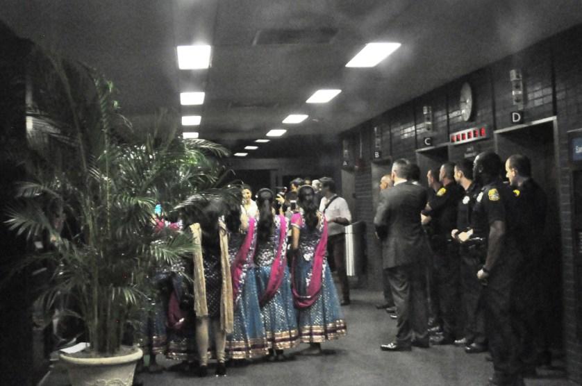 Priyanka Chopra in the Center during Green Carpet Walk for IIFA at Tampa International Airport, April 23, 2014