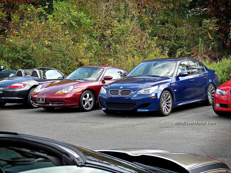 BMW M5 and Porsche 911