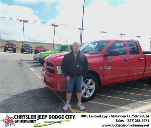 Happy Anniversary to Jimmy D Holt on your 2013 #Dodge #1500Qc from Joel Nordgaard  and everyone at Dodge City of McKinney! by Dodge City McKinney Texas