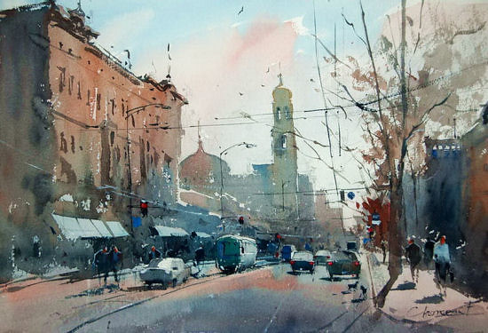 Watercolor by Eugen Chisnicean