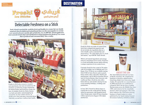 Freshi reviewed by Print Media by Freshi Ice Sticks Jeddah Saudi Arabia
