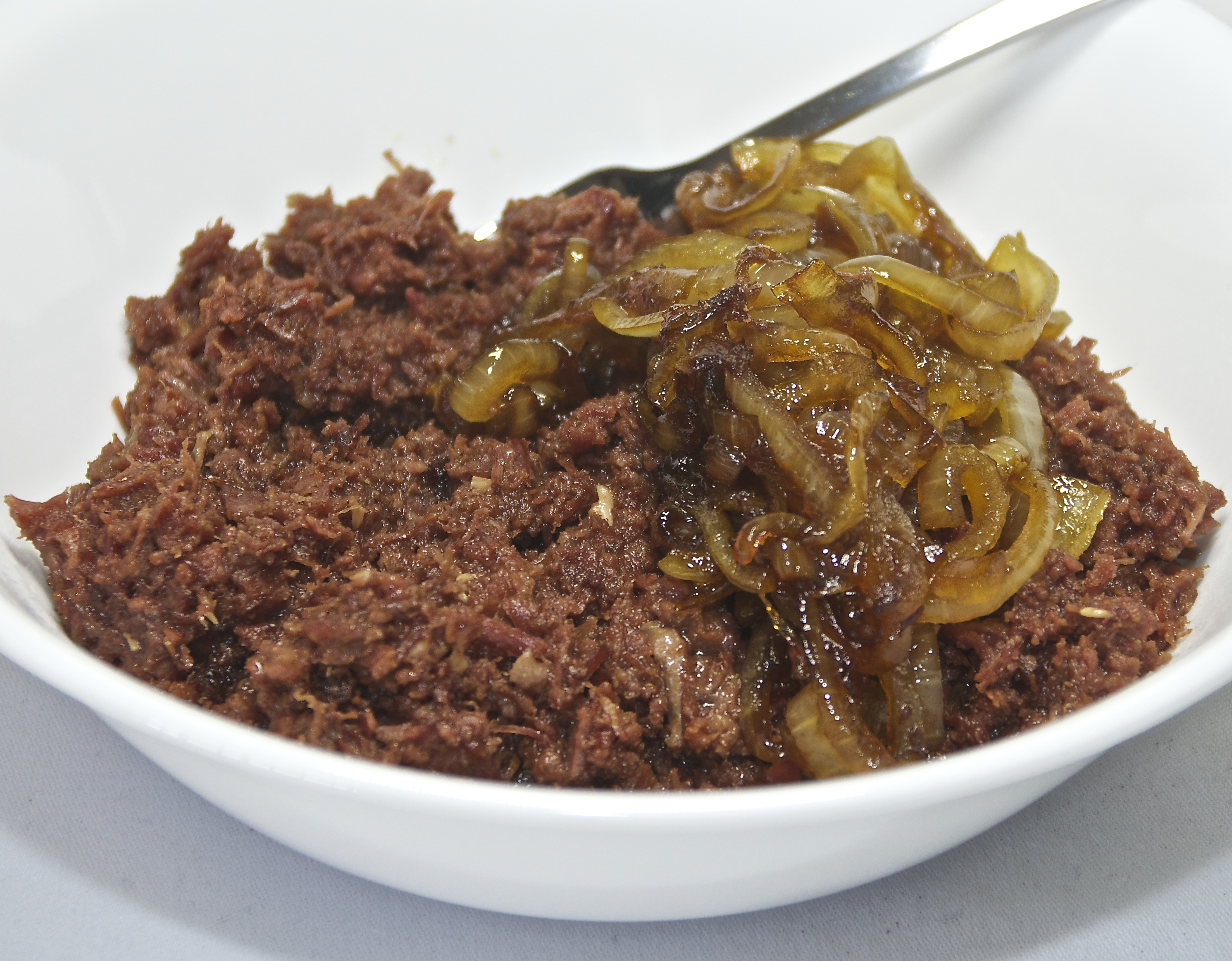 Curried corned beef and caramelised onion - Version 2