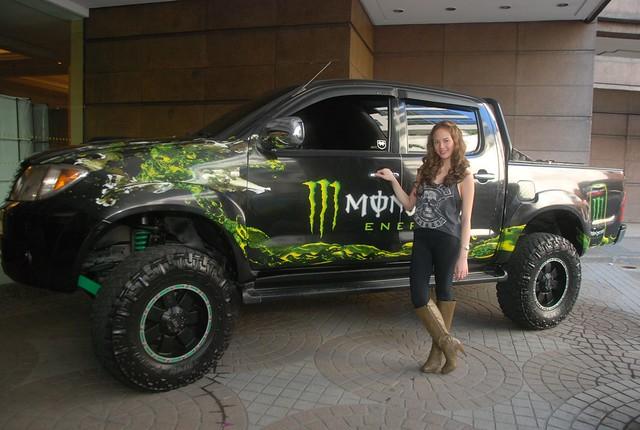Ellen Adarna with the Monster Energy Drink Trooper (5)