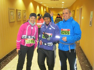 Me, Arlene and Jason in our running gear before the race.