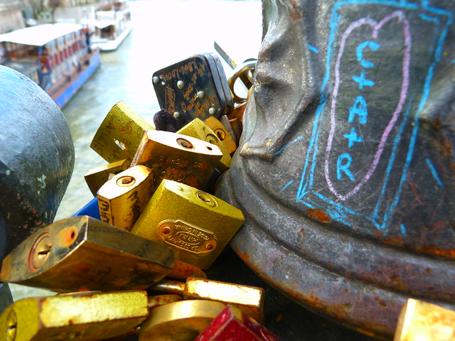 Paris Love Locks, Pont des Arts
