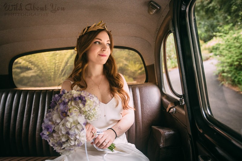Gorgeous gold leaf crown as seen on @offbeatbride