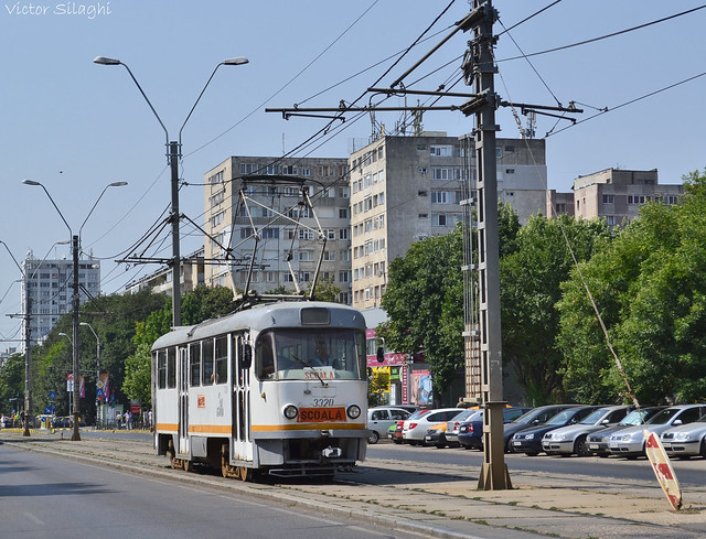 Tatra T4R - 3320 - Scoala/School tram - 15.07.2016