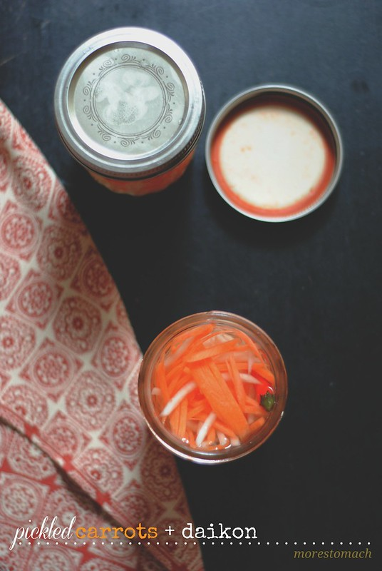 vietnamese pickled carrots + daikon