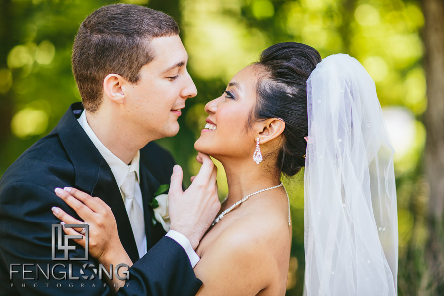 Cambodian bride and groom take creative portrait photos