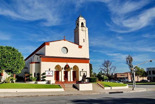 Saints Felicitas & Perpetua Catholic Church, G. Lawrence Ott, M. L. Barker, Architects 1948