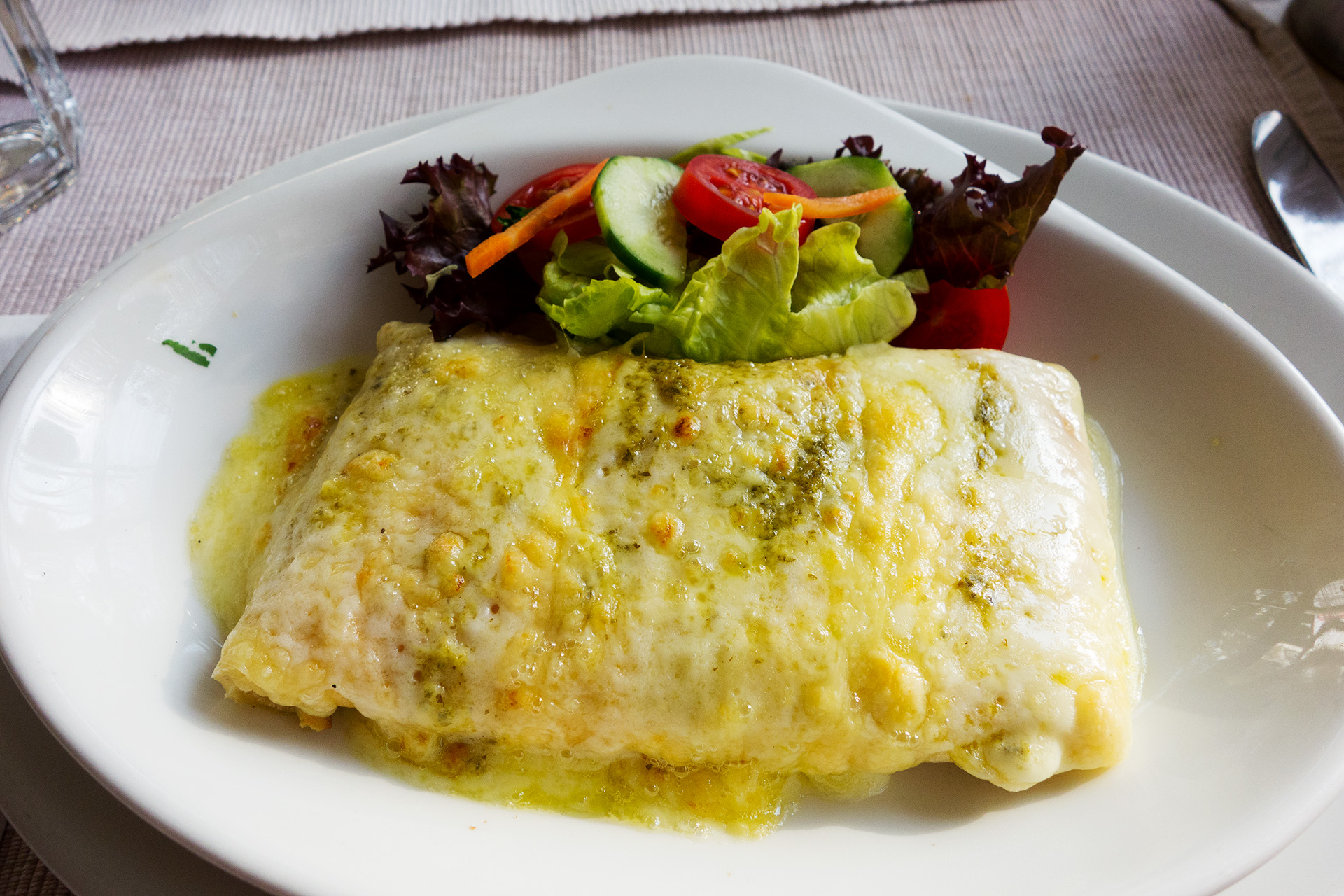 Super tasty cheese crepe.
