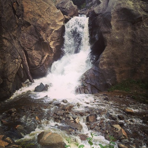 Boulder Falls #colorado by @MySoDotCom