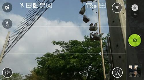 Guideline จุดตัด 9 ช่องบน SNAPit โปรแกรมกล้องของ Lenovo Vibe X