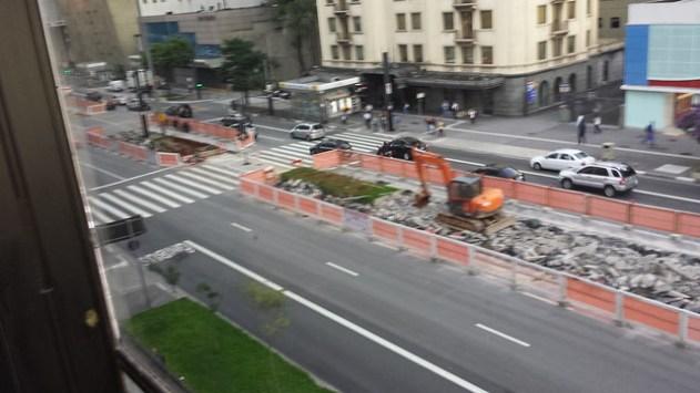 A ciclovia da Paulista esta nascendo
