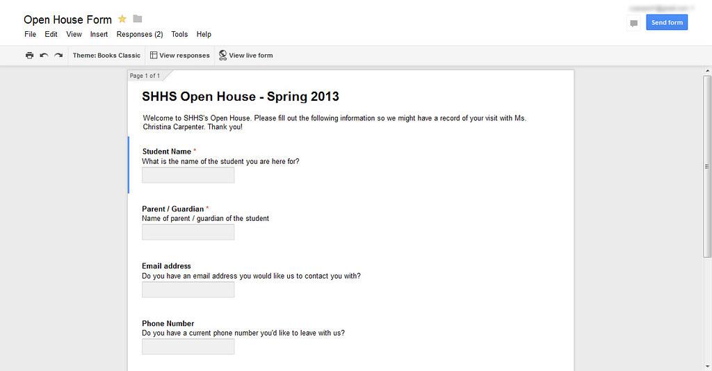 Open House Form Edit