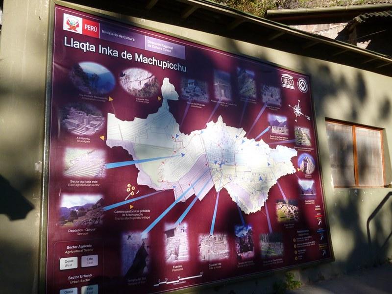 Map of Machu Picchu Inca city
