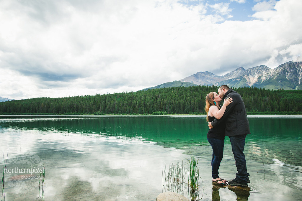 Patricia Lake Engagement Session - Jasper Alberta Canada Wedding