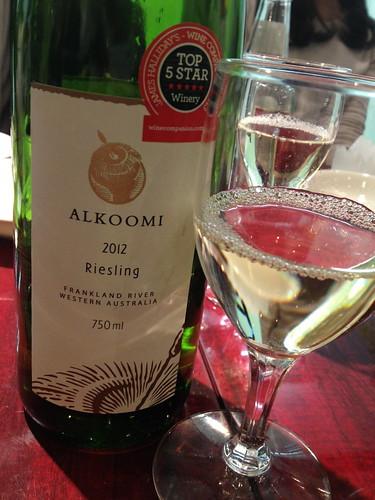 リースリングのワイン@龍口酒家 本店
