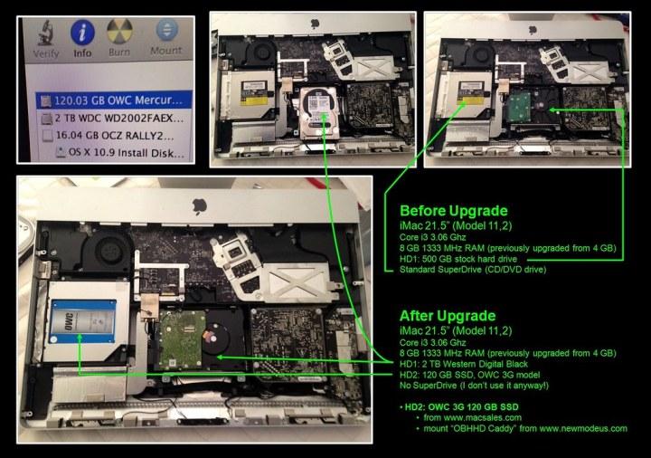iMac Upgrade Summary