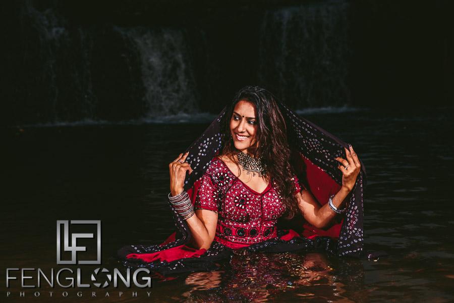 Trash the saree Indian pre-wedding photography in Atlanta