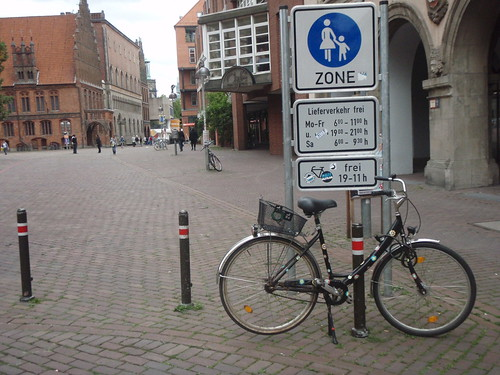 Hannover shared ped zones