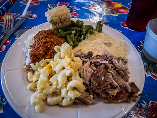 Food from the Buffet at Lone Star BBQ