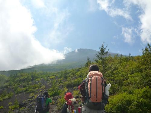 富士山須走ルート(援人やま部, 2013年) Mt.Fuji Trekking (Subashiri Route)