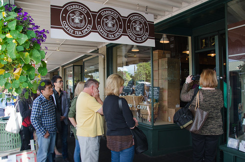 The first Starbucks in Seattle