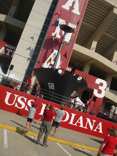 IU vs Navy - USS Indiana at Aiden's first college football game