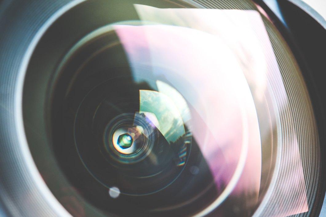 Imagen gratis de la lente de un objetivo en primer plano