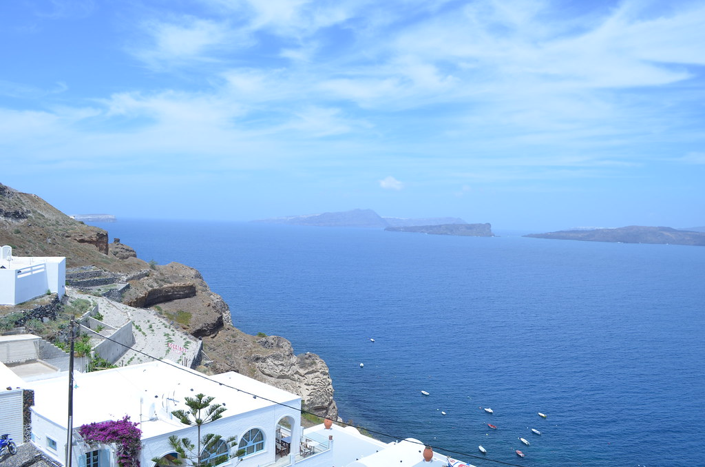 Santorini caldera view