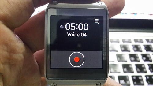 โปรแกรม Voice memo บน Samsung Galaxy Gear