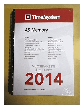 Time/system A5 Memory -vuosipaketti vuodelle 2014.